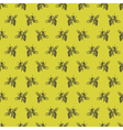 background with bees vector image vector image