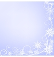 Winter greeting card with snowflakes vector image