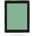 computer tablet pc with green abstract screen vector image