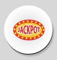 jackpot winnings inscription sticker icon flat vector image