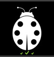 ladybird it is white icon vector image