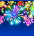 large fireworks display - background vector image