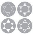 monochrome icons with the stars of david vector image