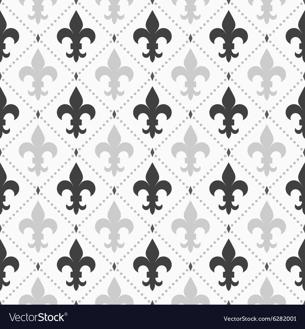 Shades of gray light and dark fleurdelis vector