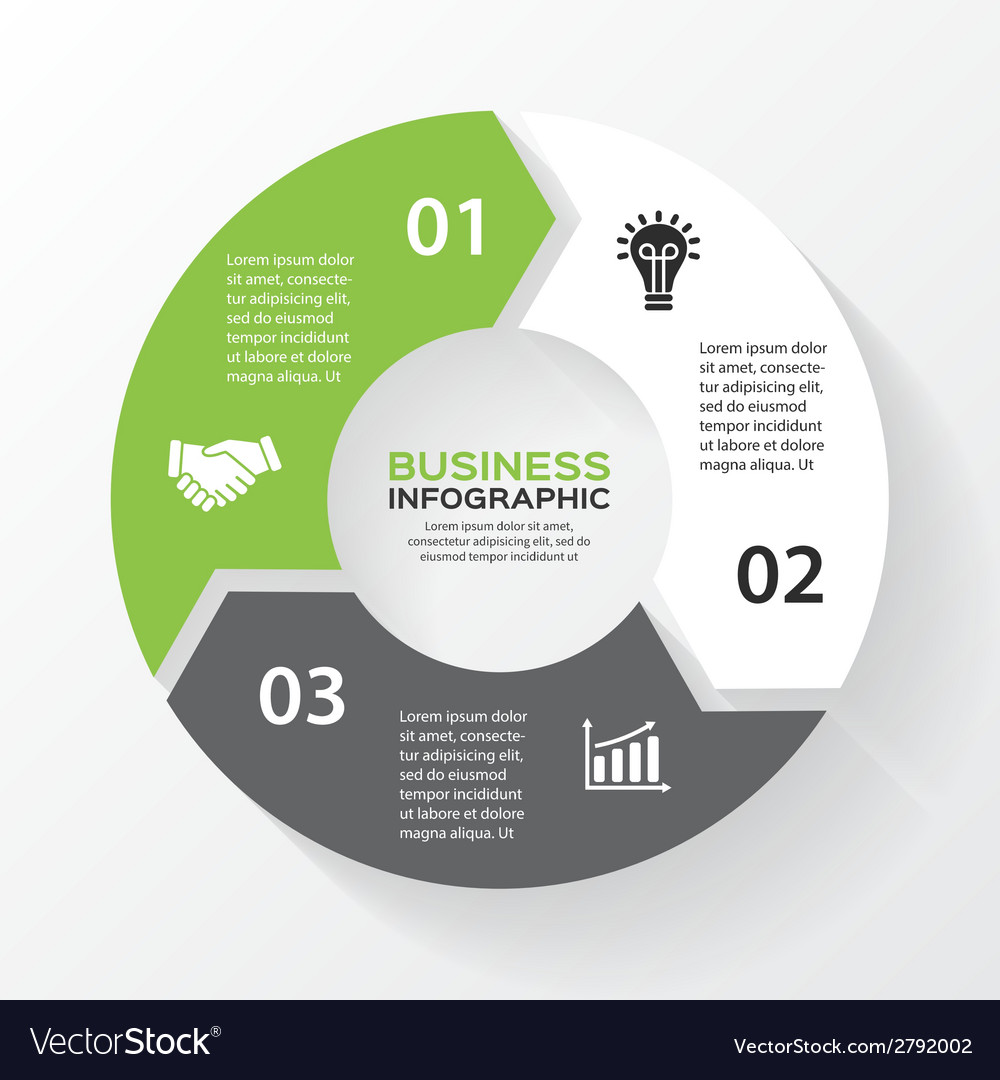 Circle arrows for infographic template for diagram vector