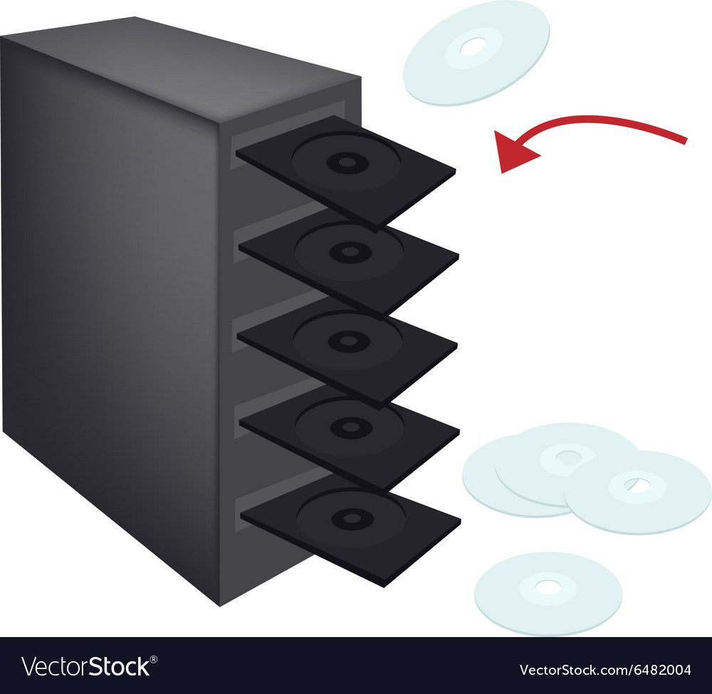 Cd or dvd duplicator on isolated white vector