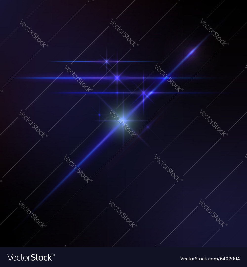 Lens flares star lights glow vector