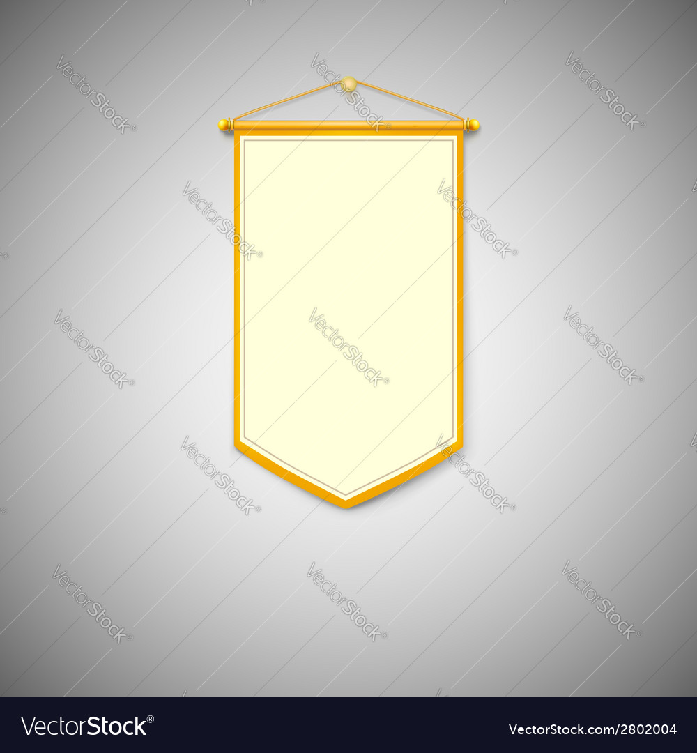 Yellow pennant on white background vector