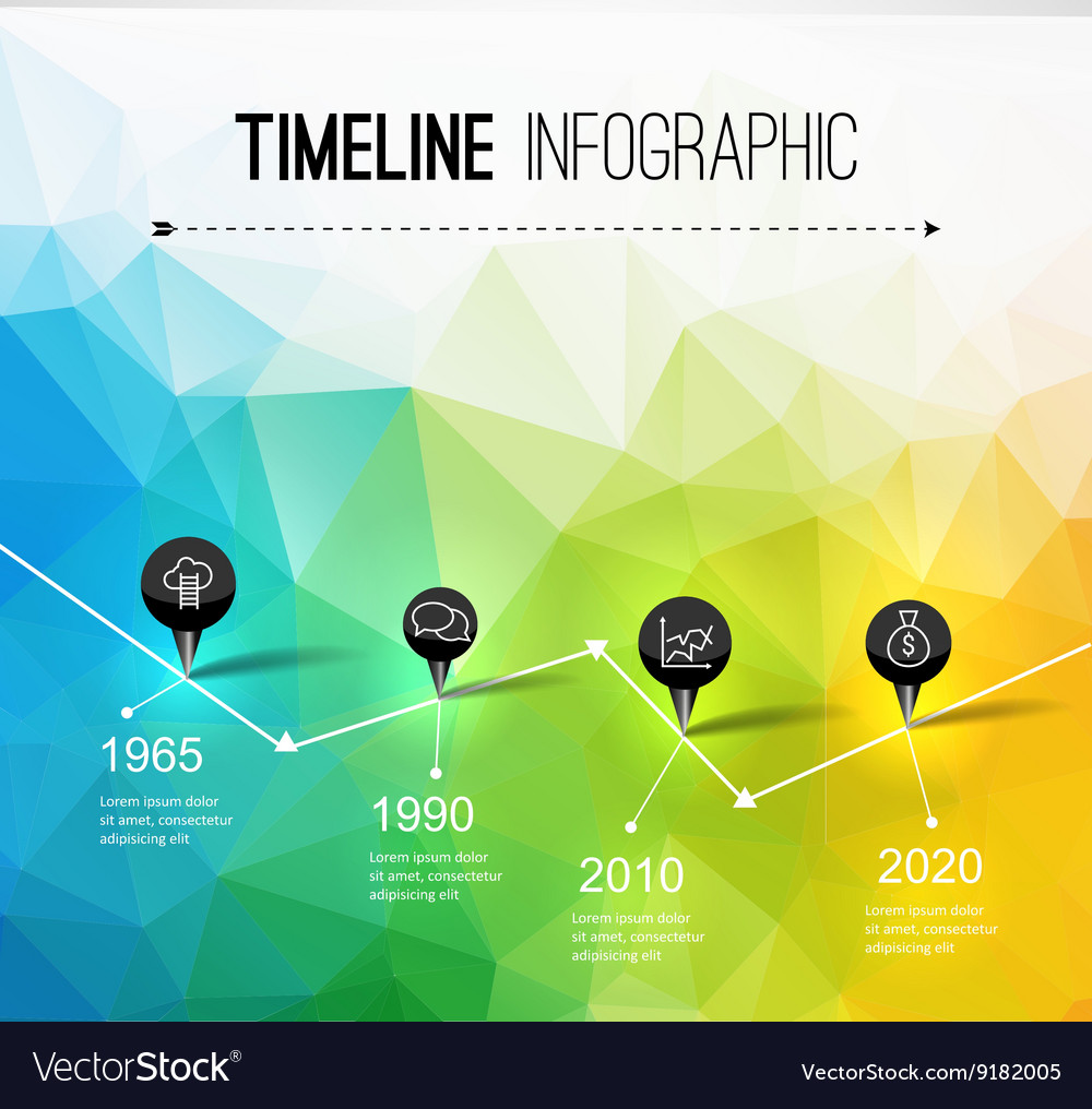 Infographic timeline design concept  template vector