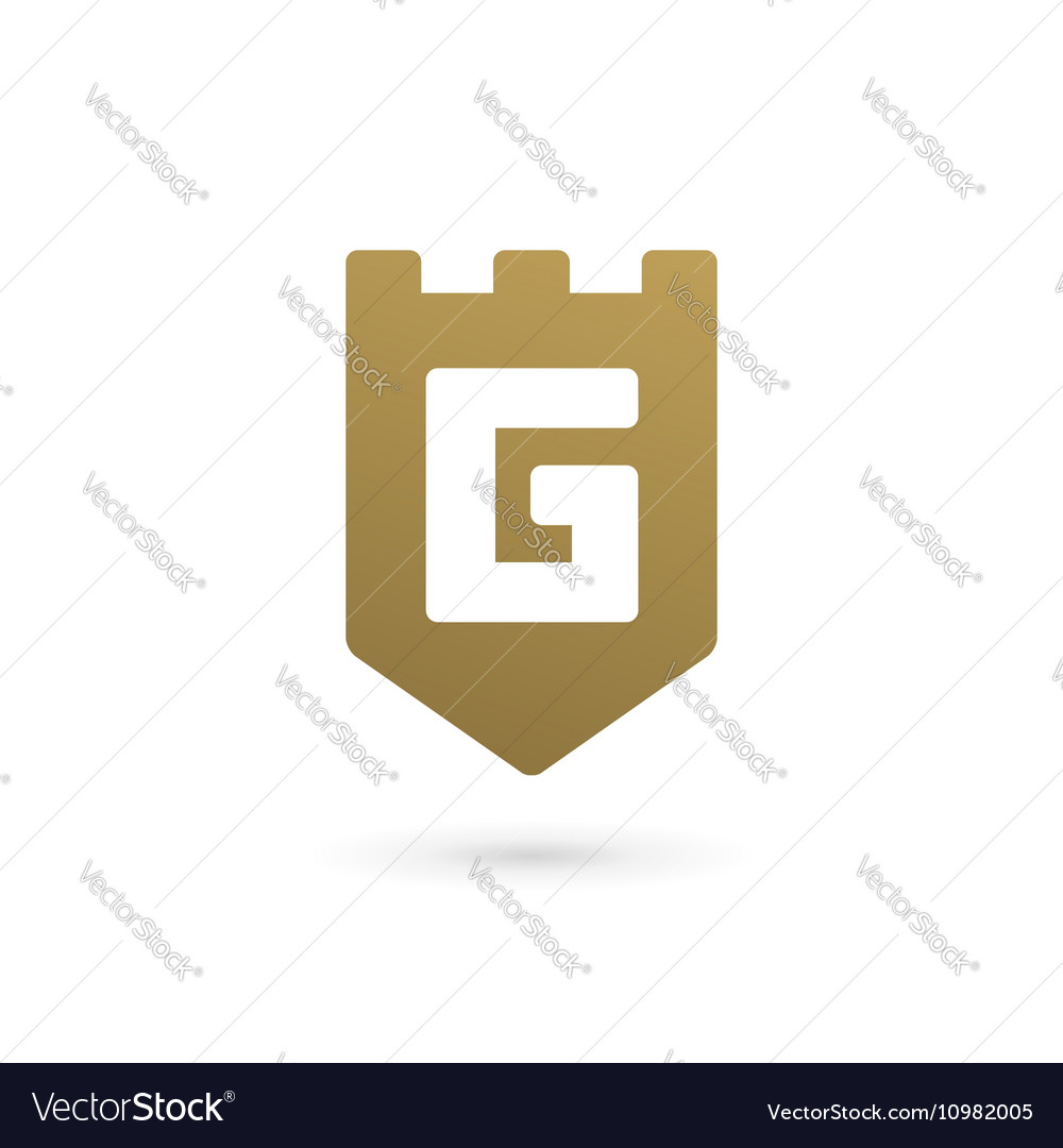 Letter g shield logo icon design template elements vector