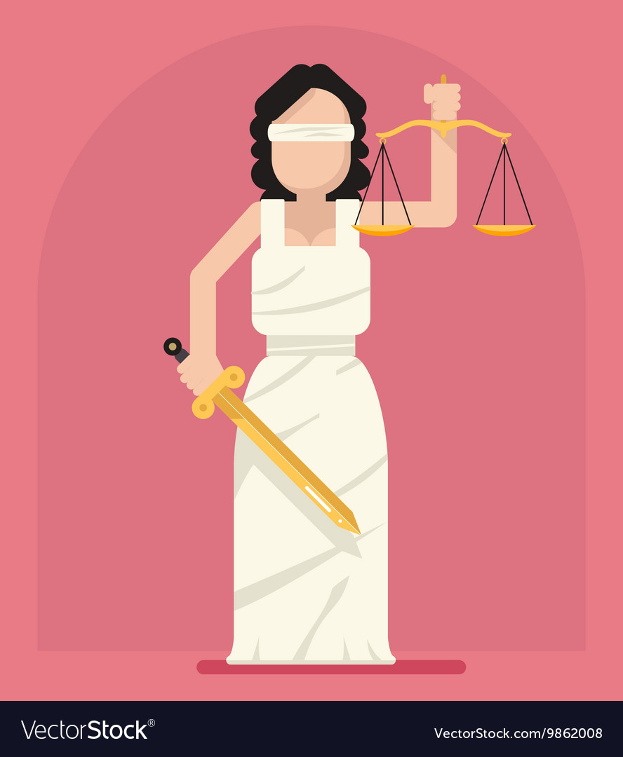 Is femida with scales and sword symbol of law vector