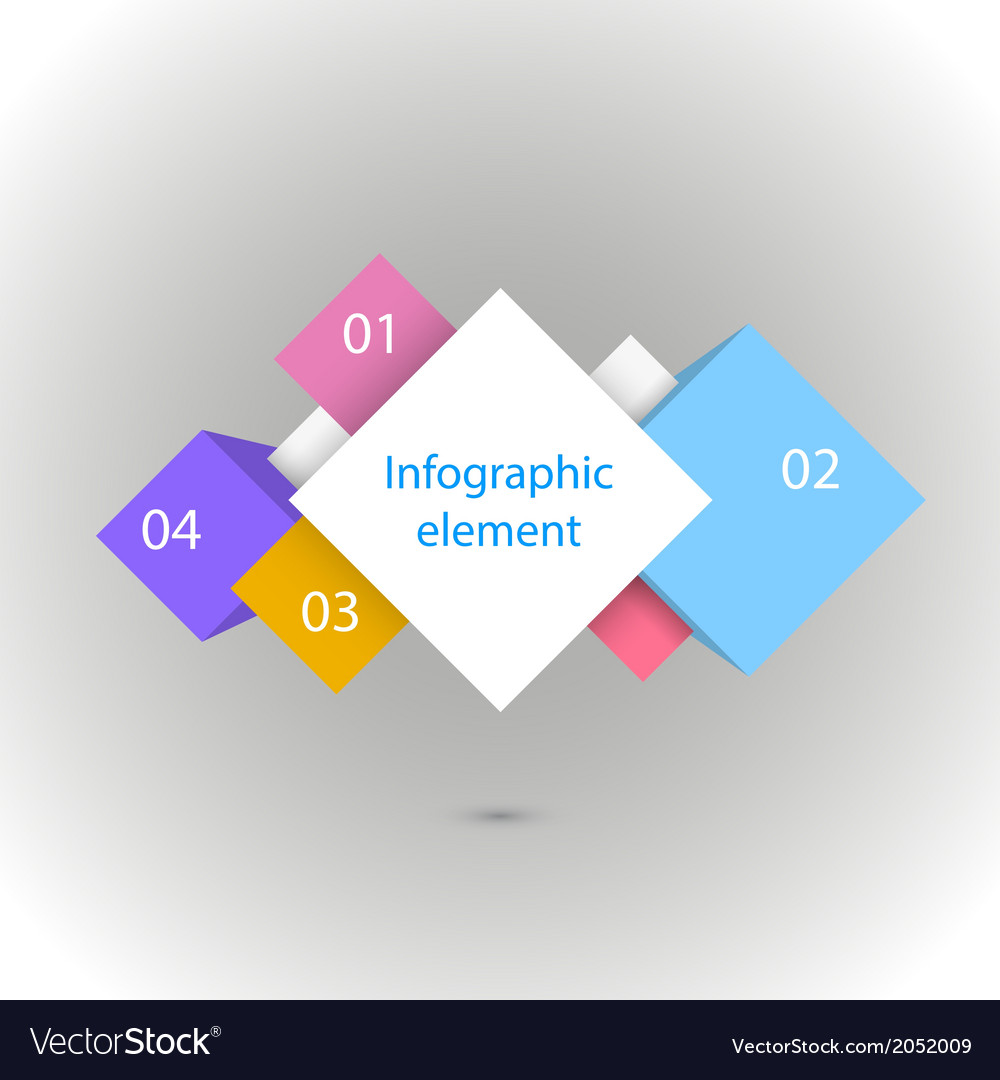 Infographic four squares vector