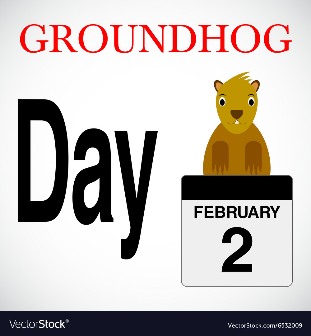 With groundhog day background vector