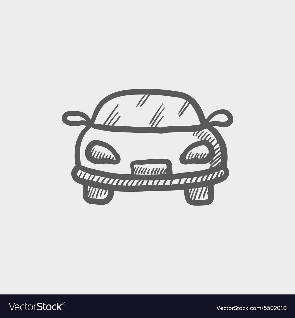 Sports car sketch icon vector