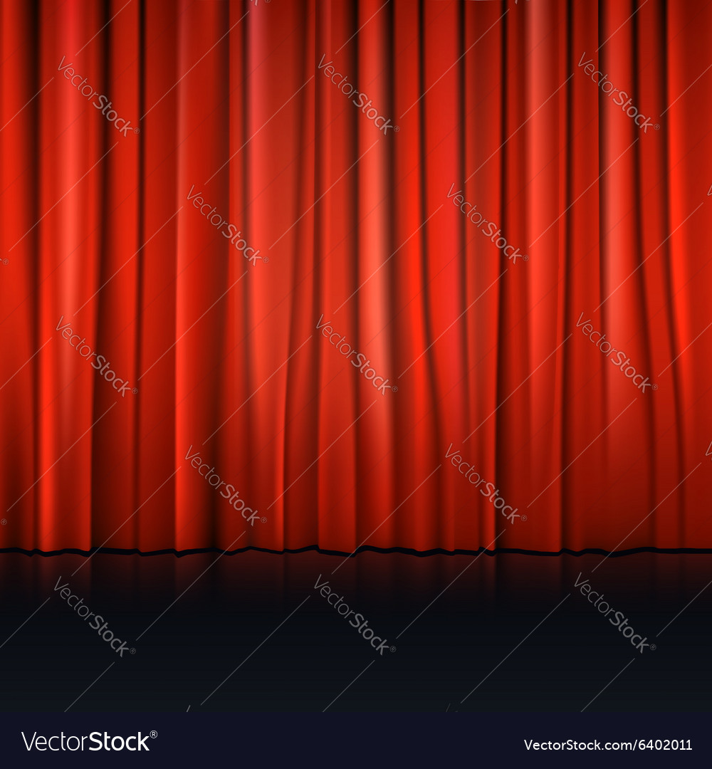 Close view of a red curtain vector