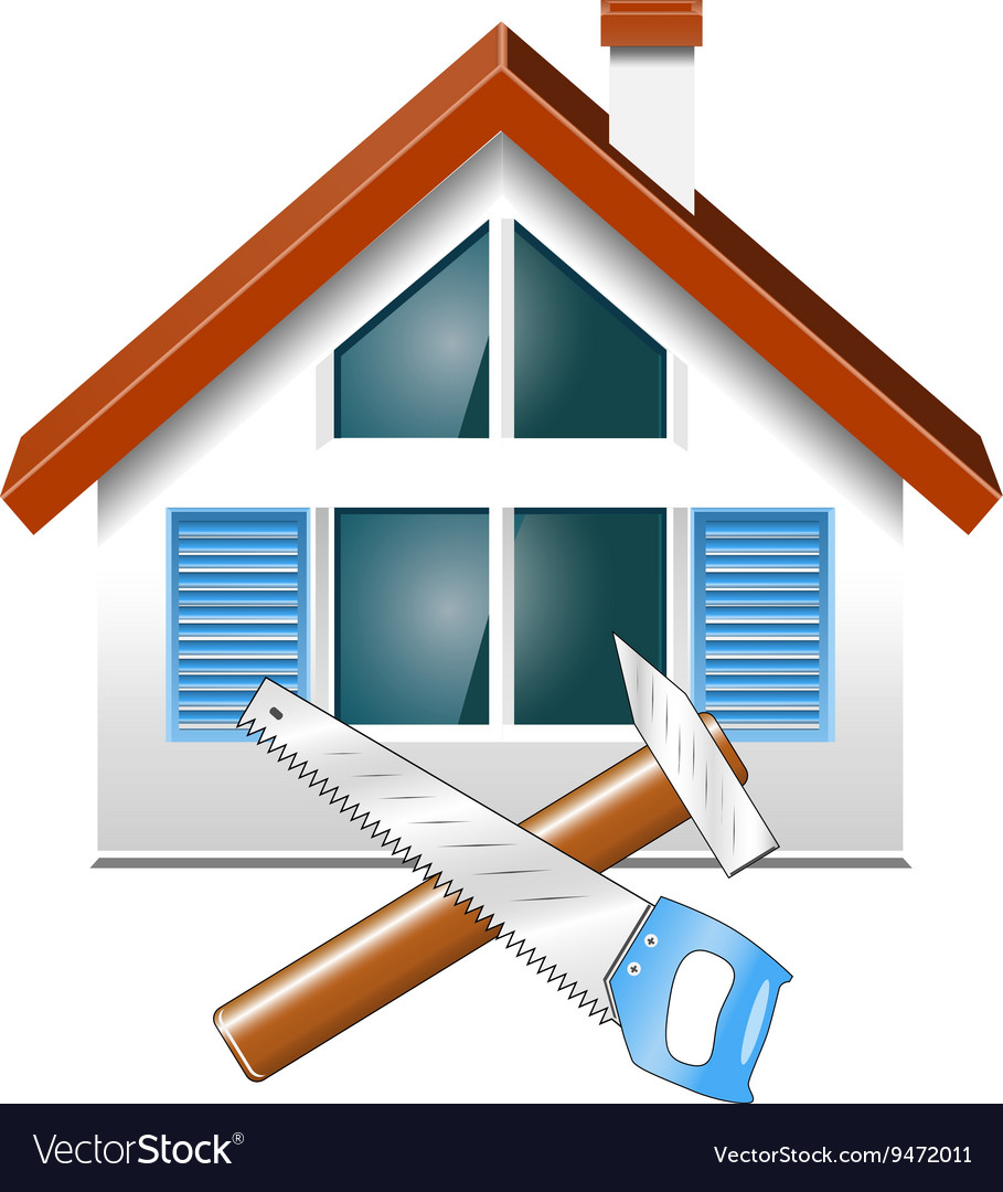 Repair and construction of houses vector