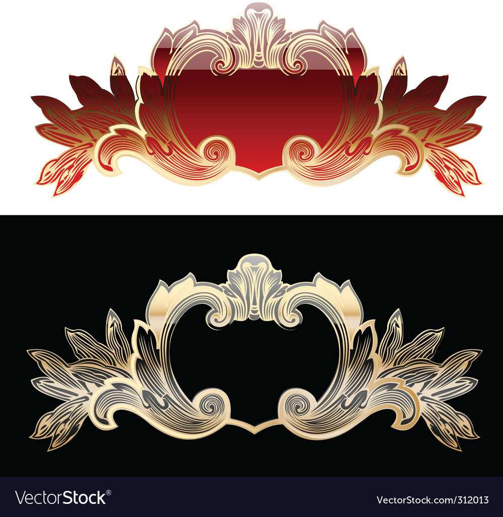 Royal design elements vector