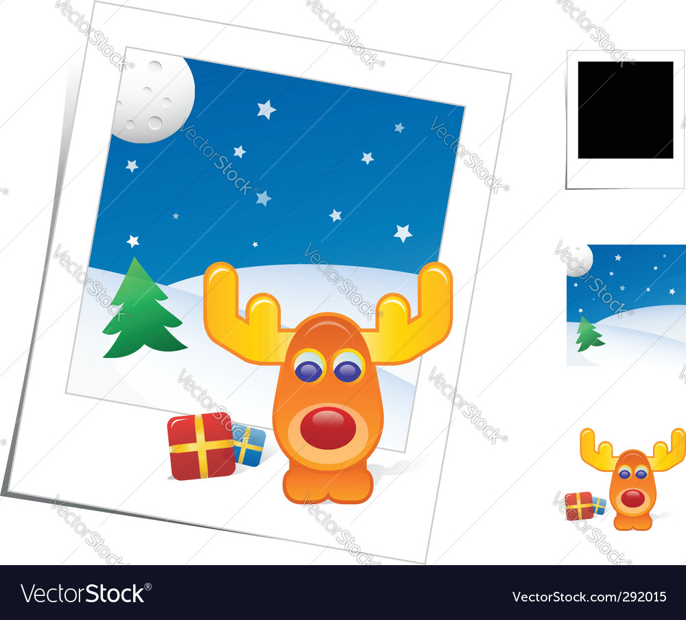 Christmas reindeer vector