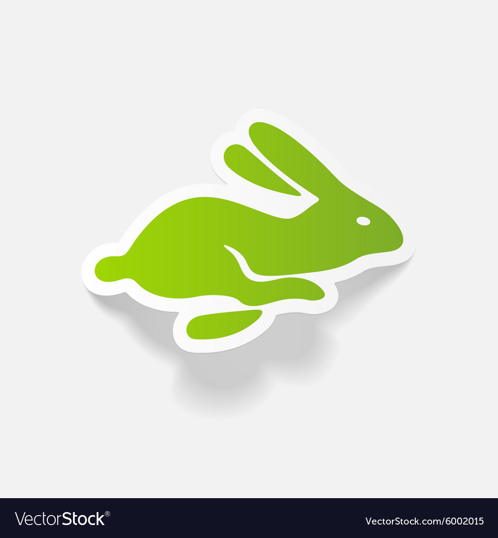 Realistic design element easter rabbit vector