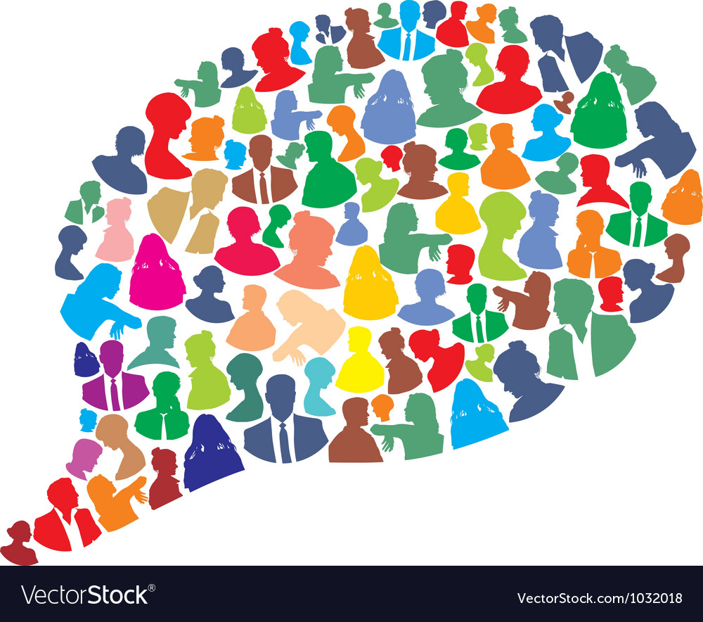 Bubble made people icons vector