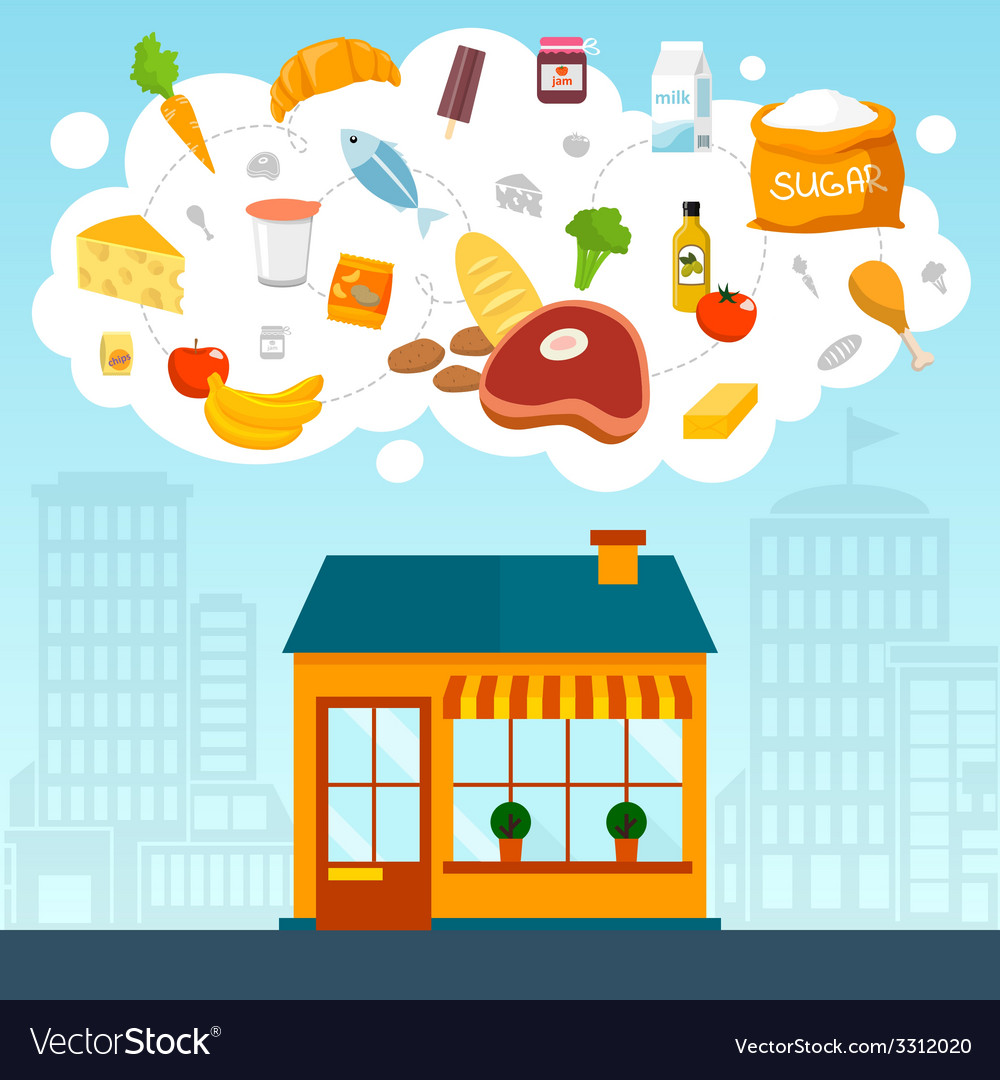 Grocery store concept vector