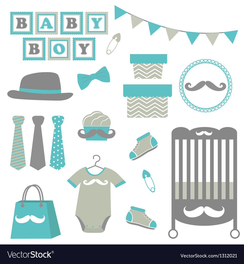 Baby boy collection vector