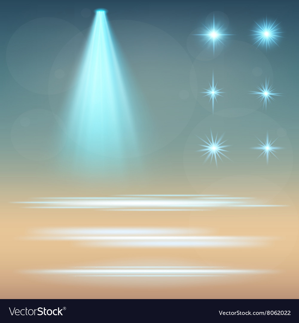 Creative concept set of glow light effect vector