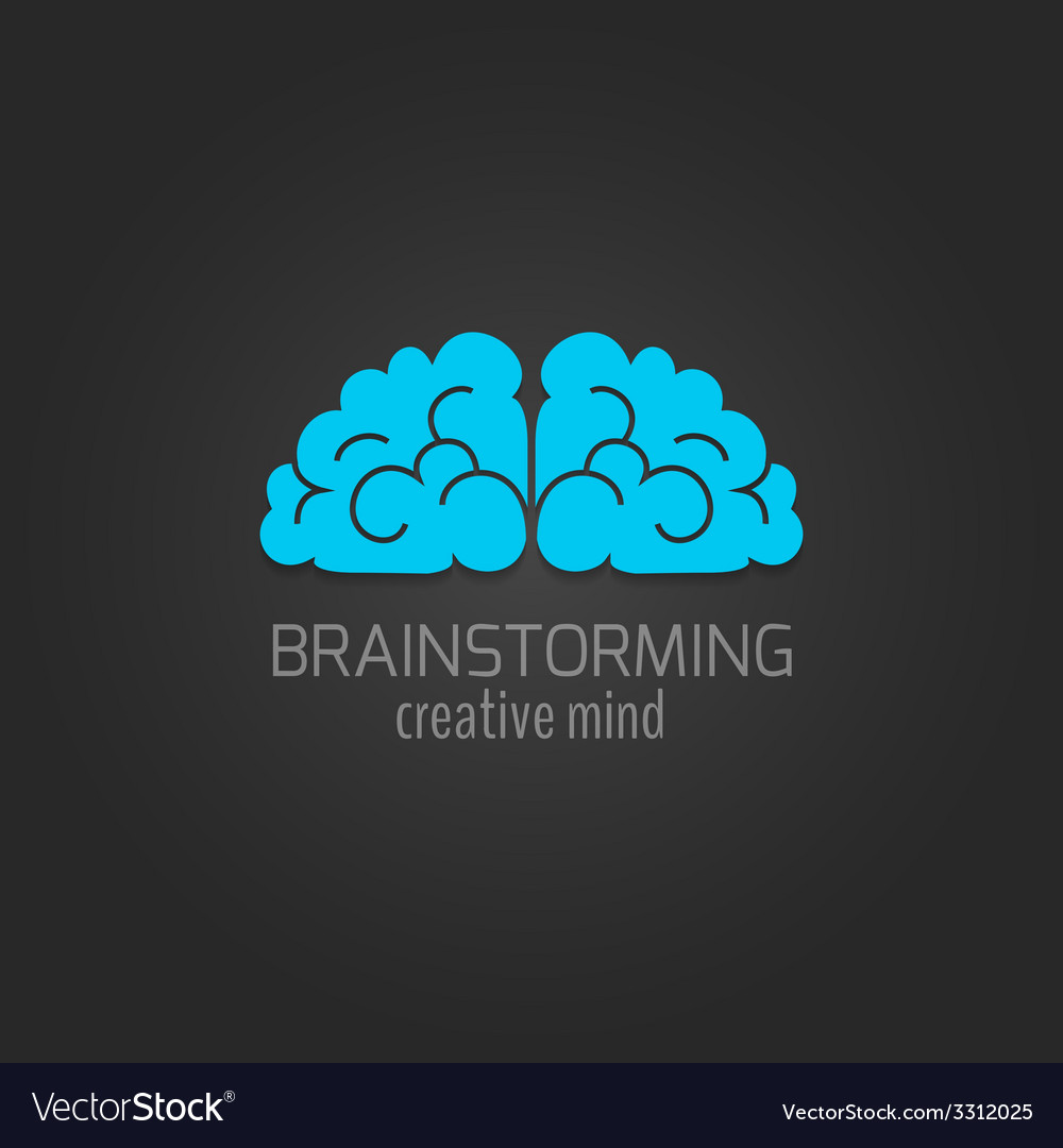Human brain icon flat vector