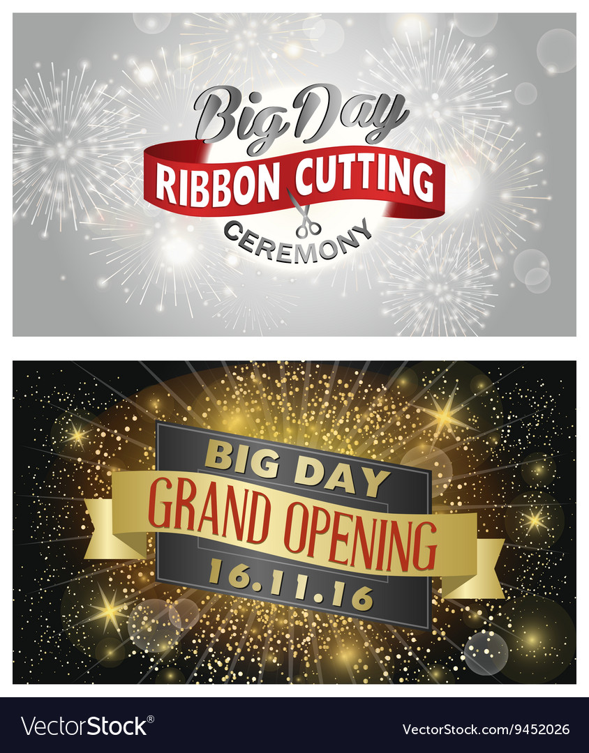 Grand opening banner design vector
