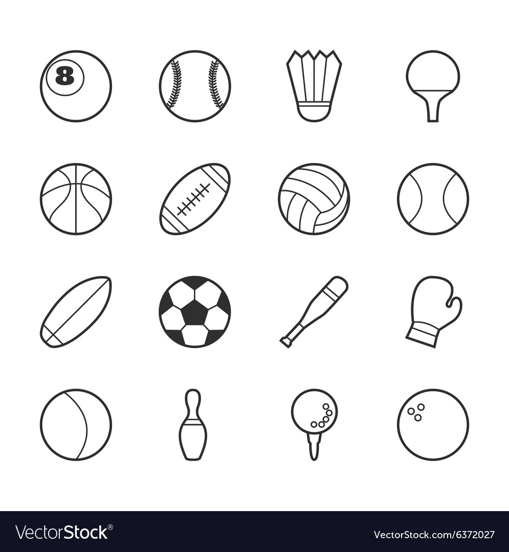 Set of sport icons eps10 format vector
