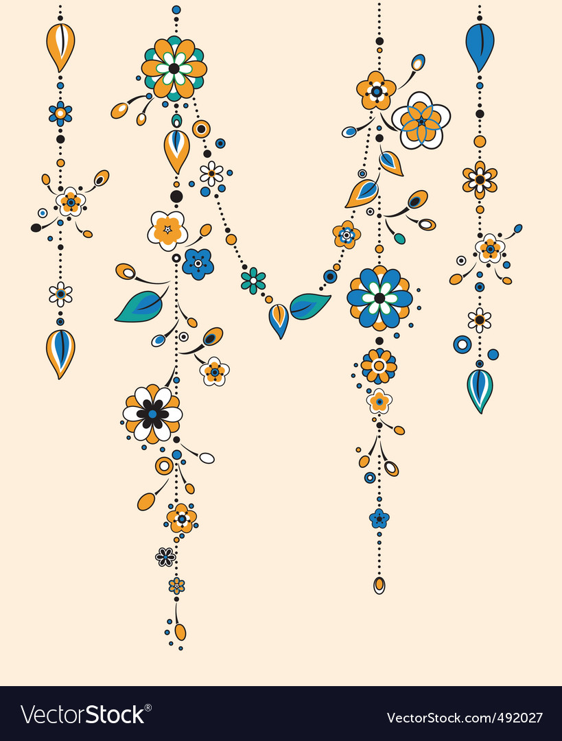 Wind chimes vector