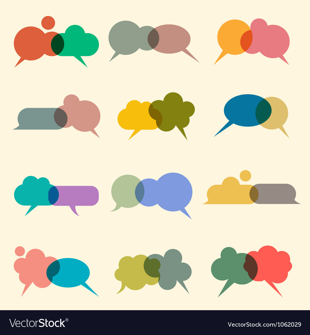 Bubbles for speech vector