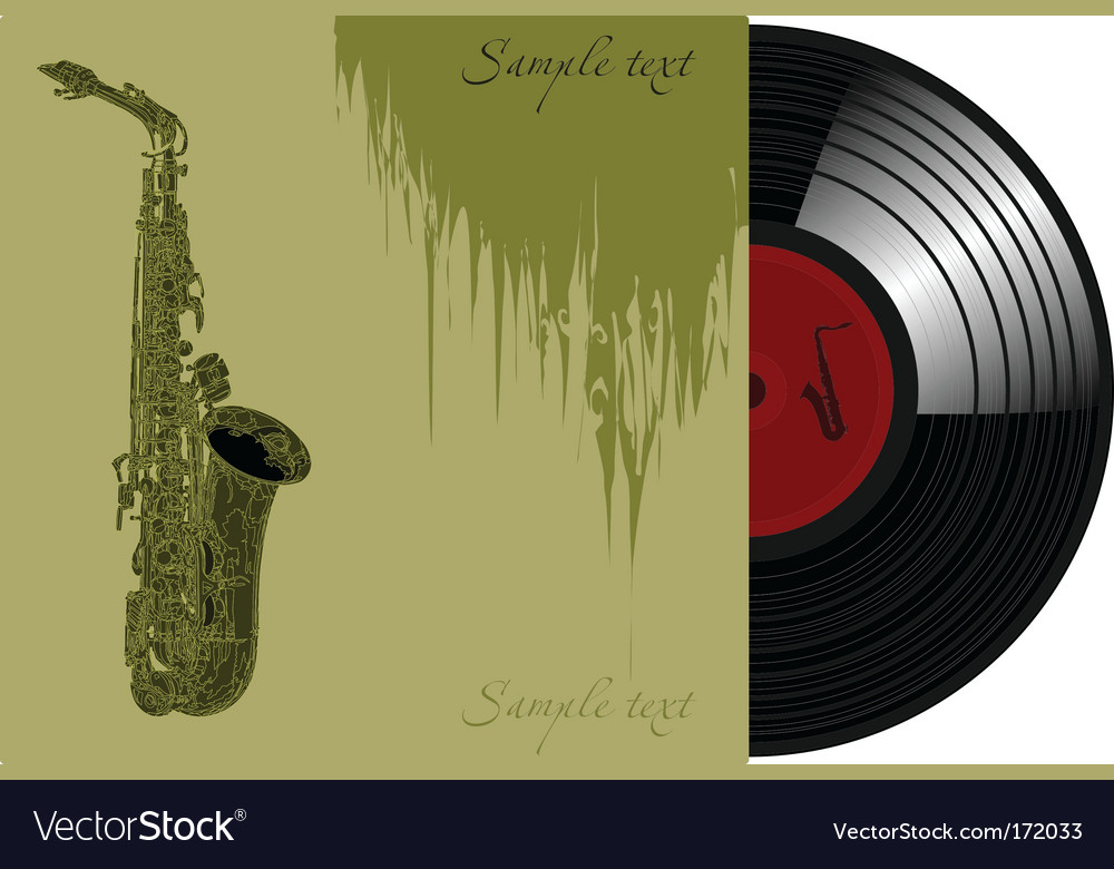 Trumpet record sleeve vector