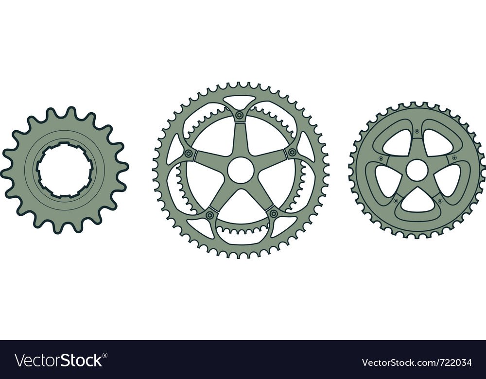 Bike gears vector