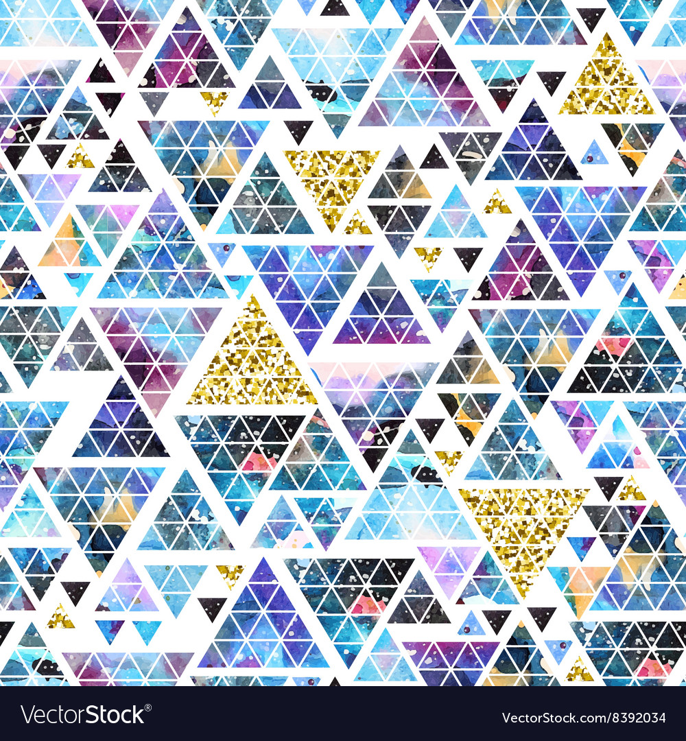 Triangular space design abstract watercolor vector