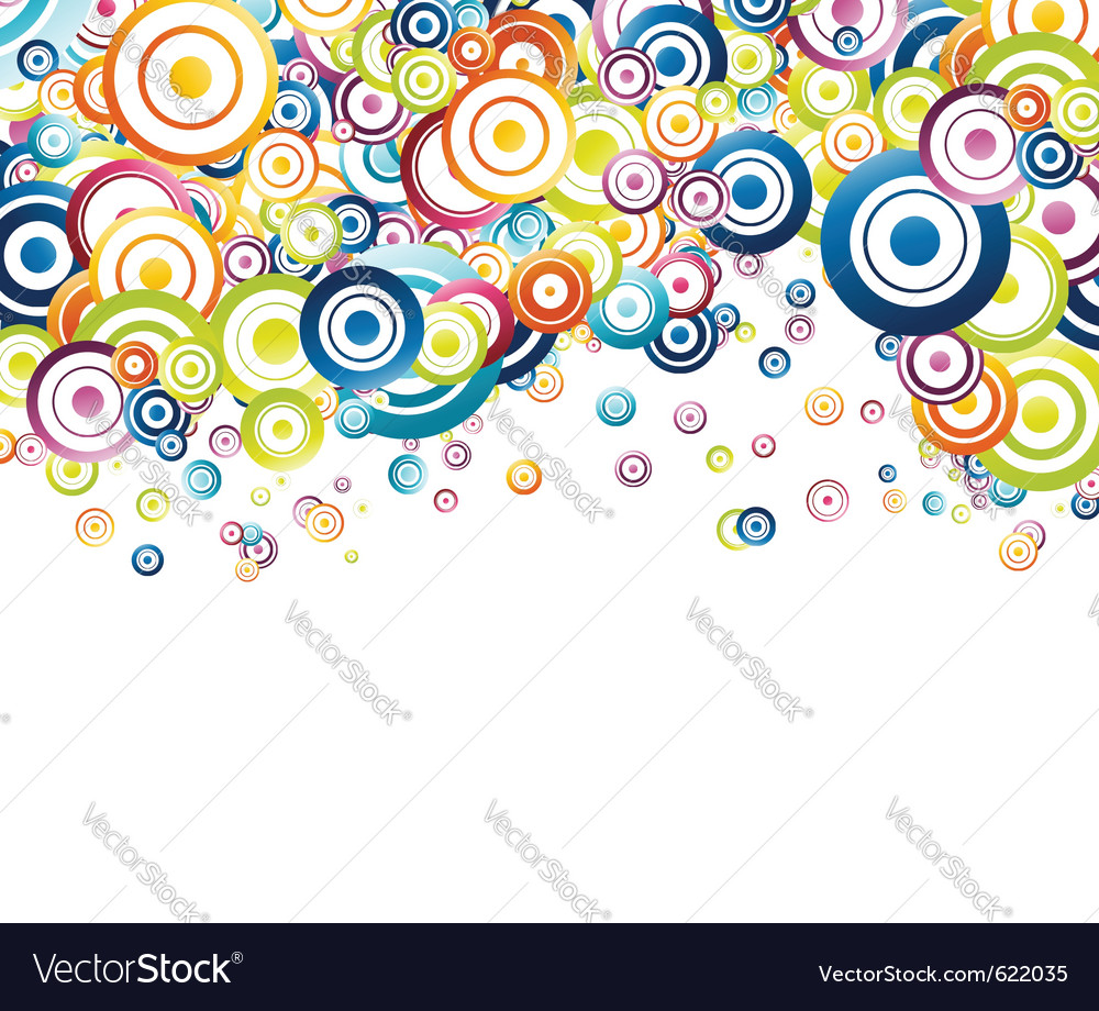 Colorful rainbow circle background vector