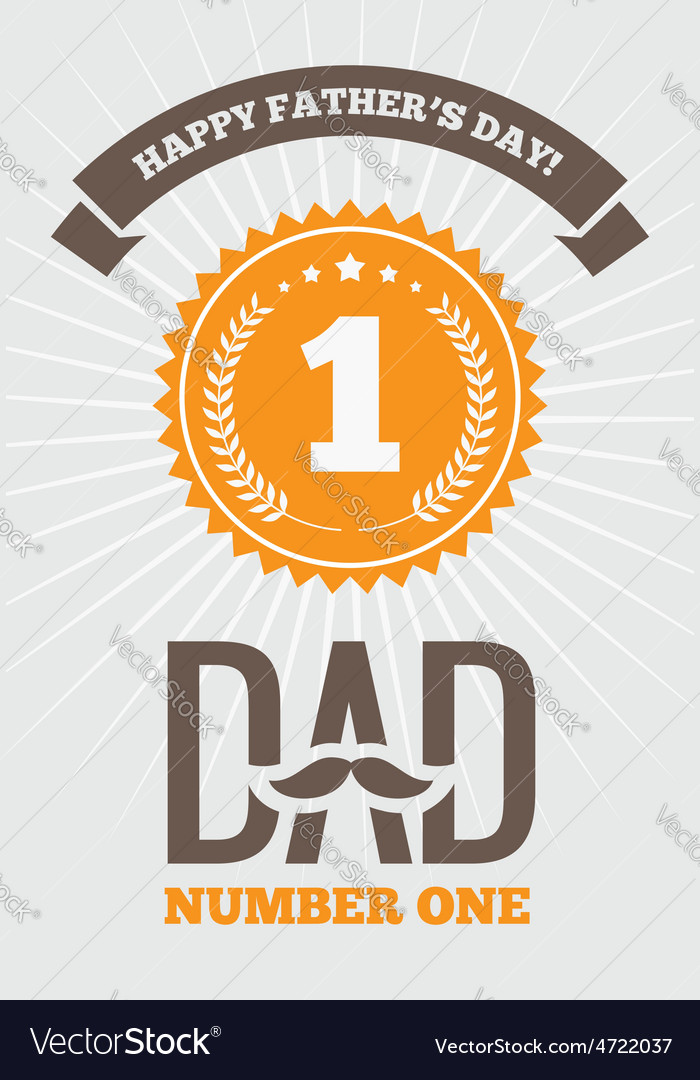 Dad number one 1 vector