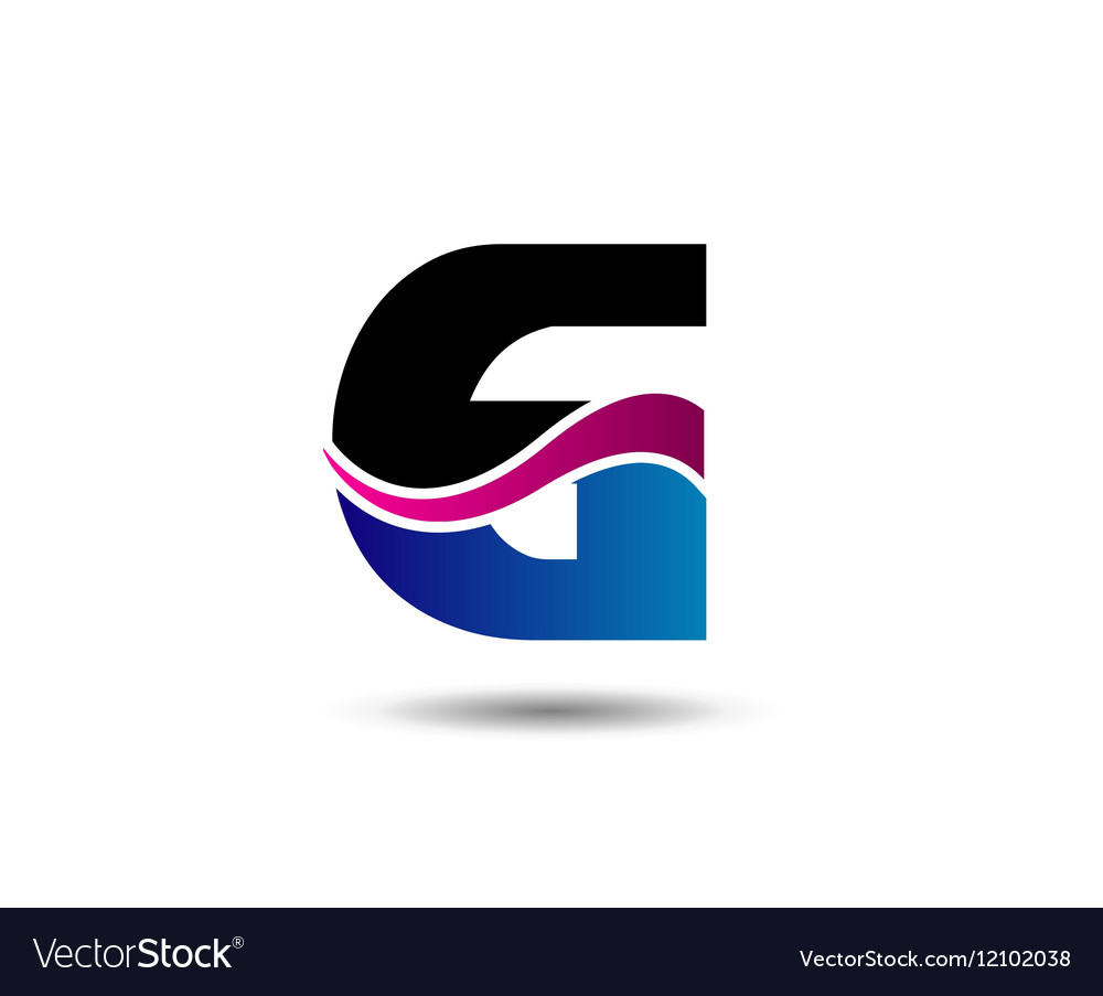 Abstract number 6 logo symbol vector