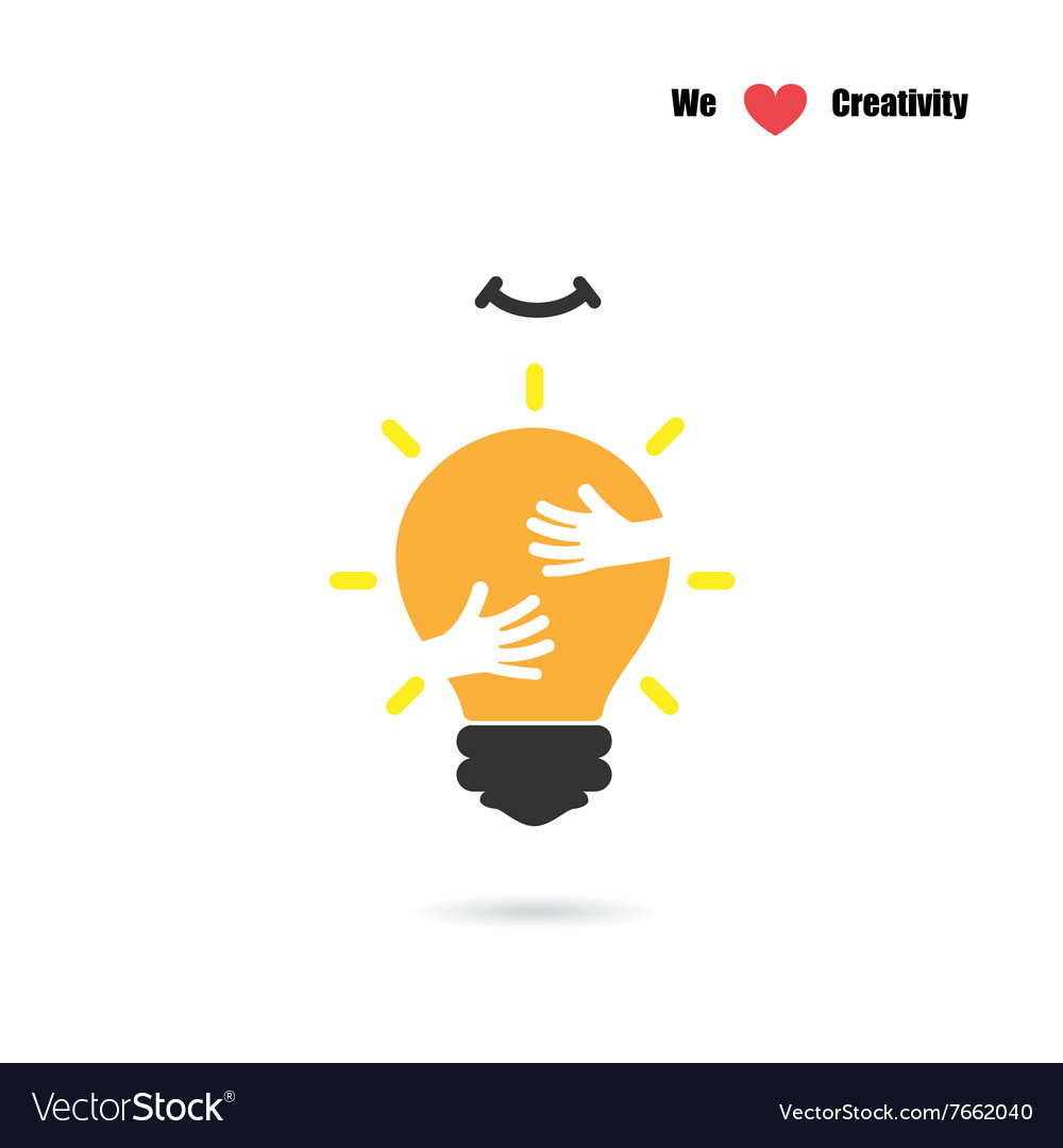 Creative light bulb logo design template vector