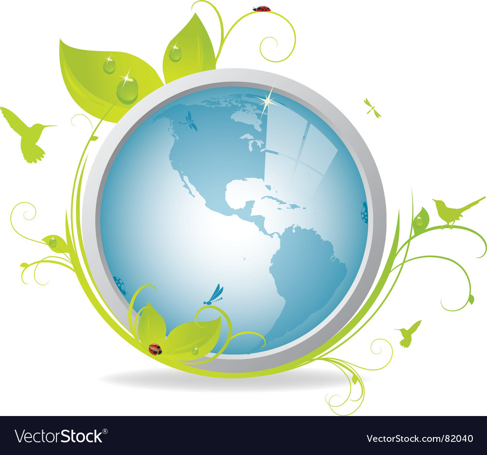 Ecological earth icon vector