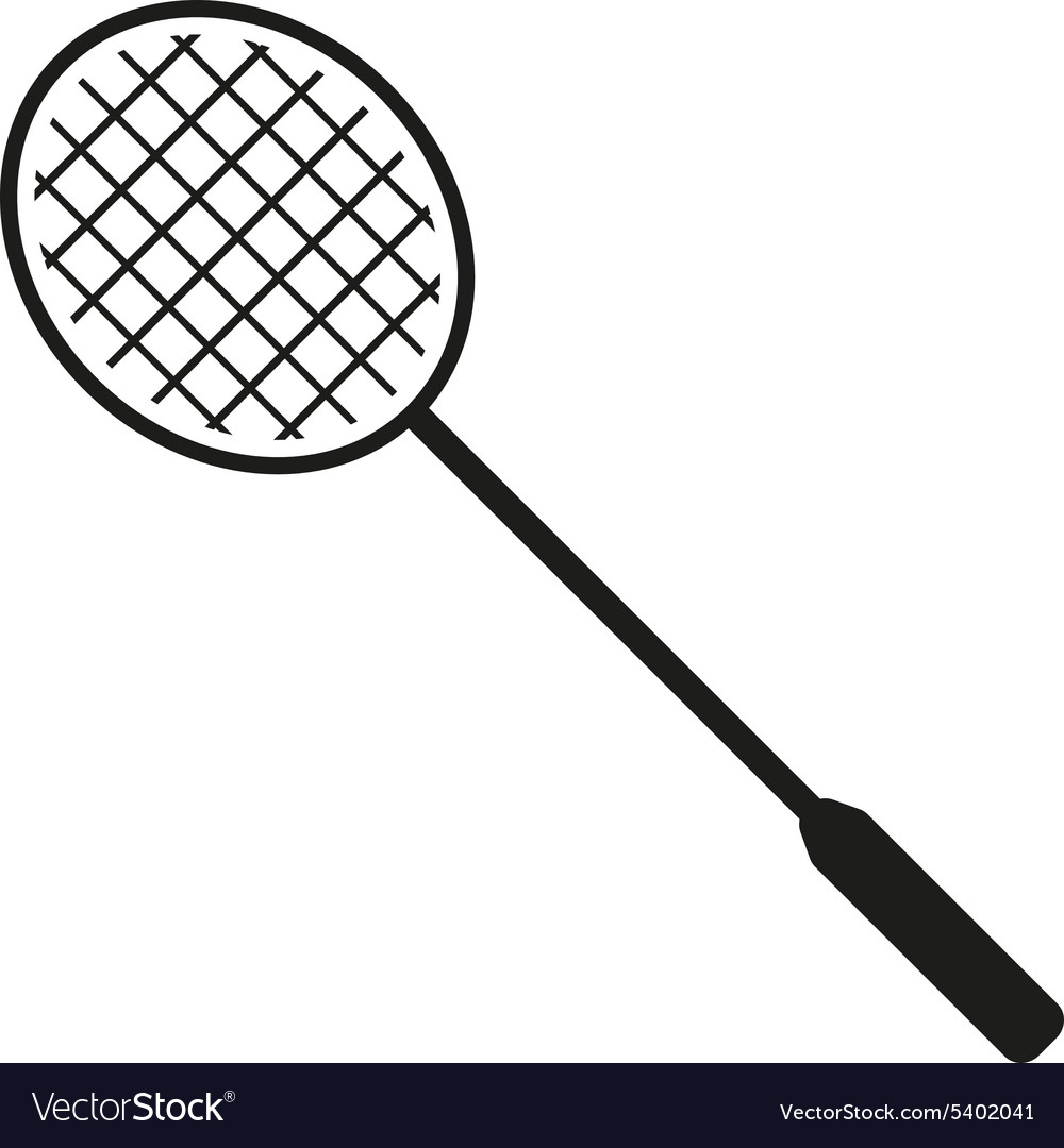 Badminton icon game symbol flat vector