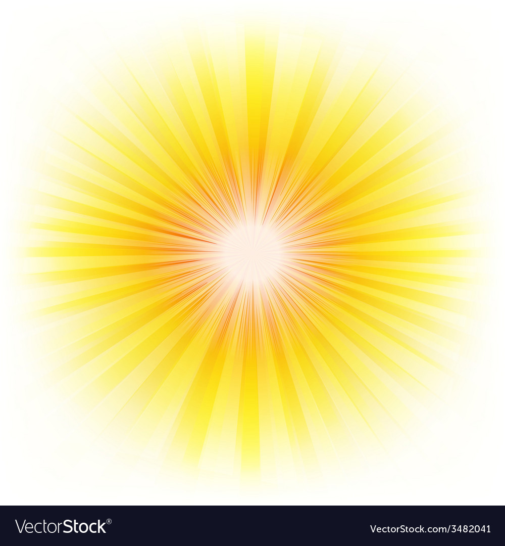 Burst poster with beams vector