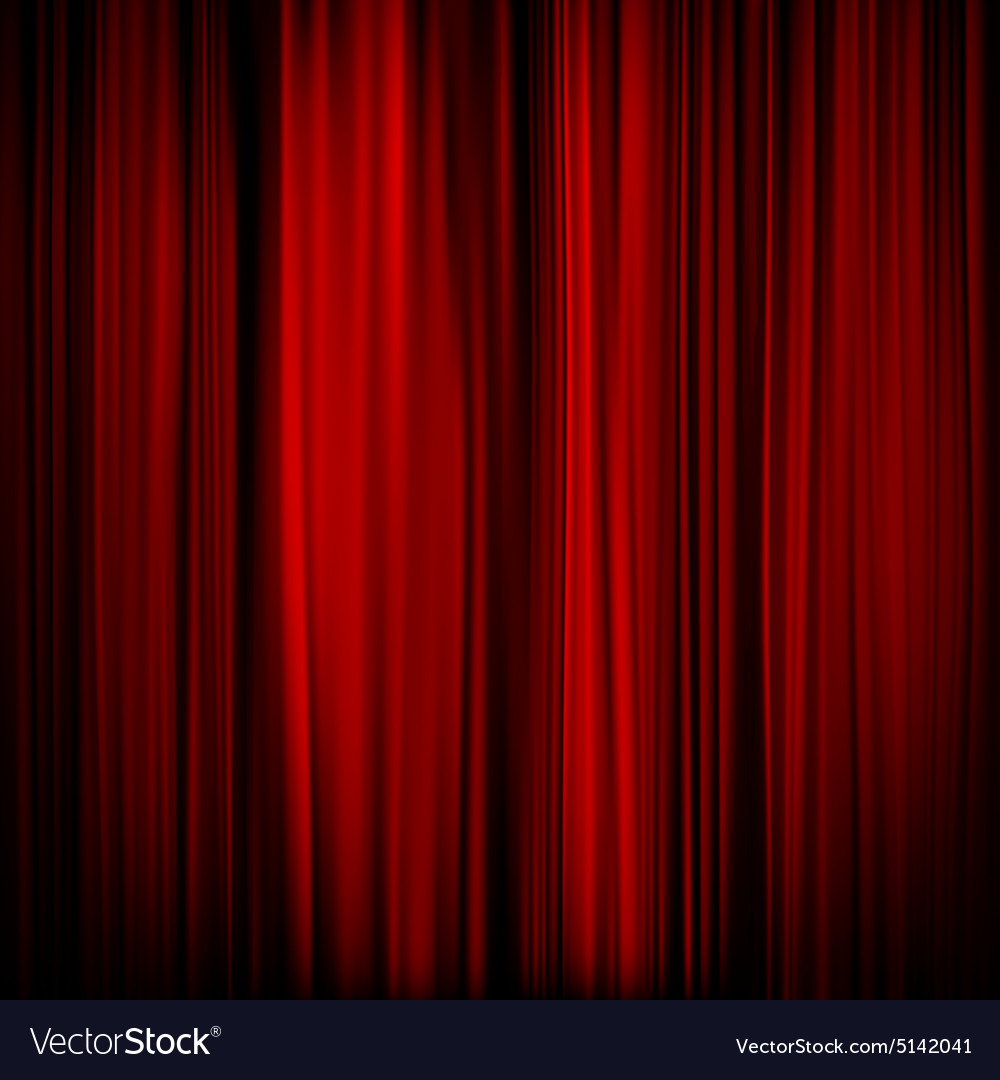 Part of a red curtain  dark eps 10 vector