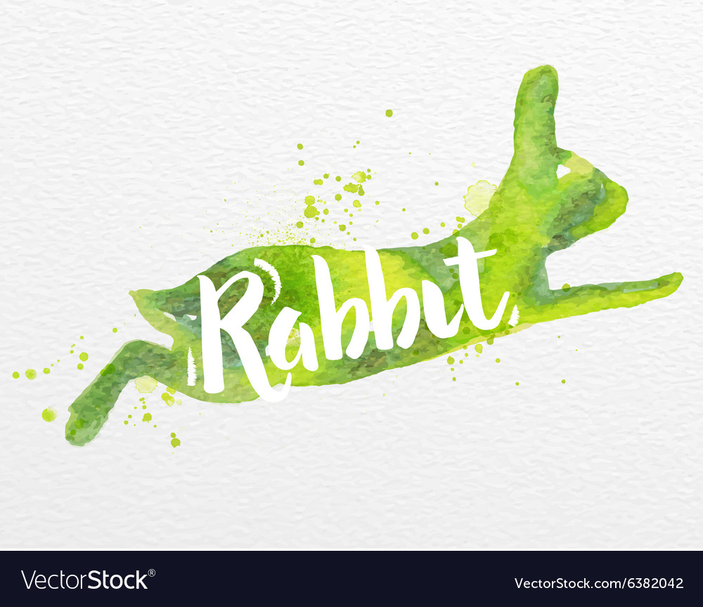 Painted animals rabbit vector