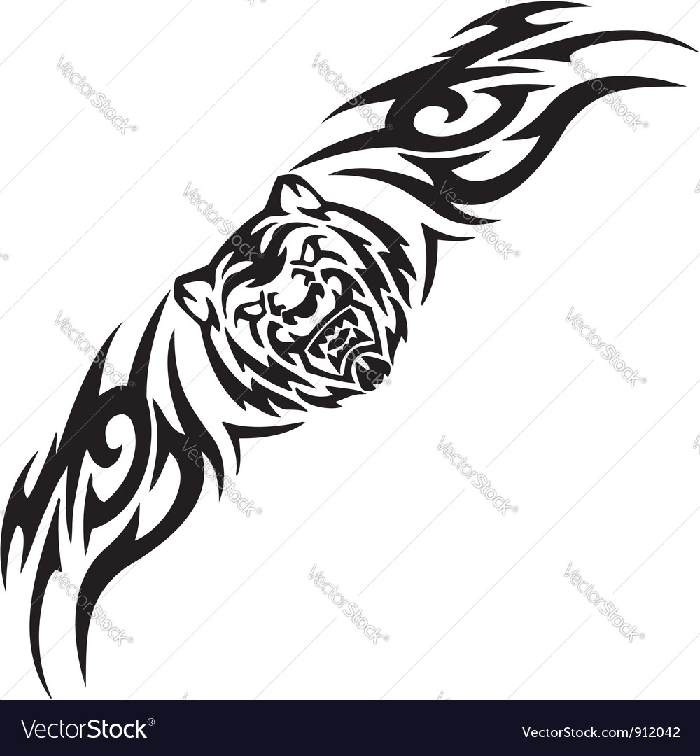 Tiger and symmetric tribals  vector