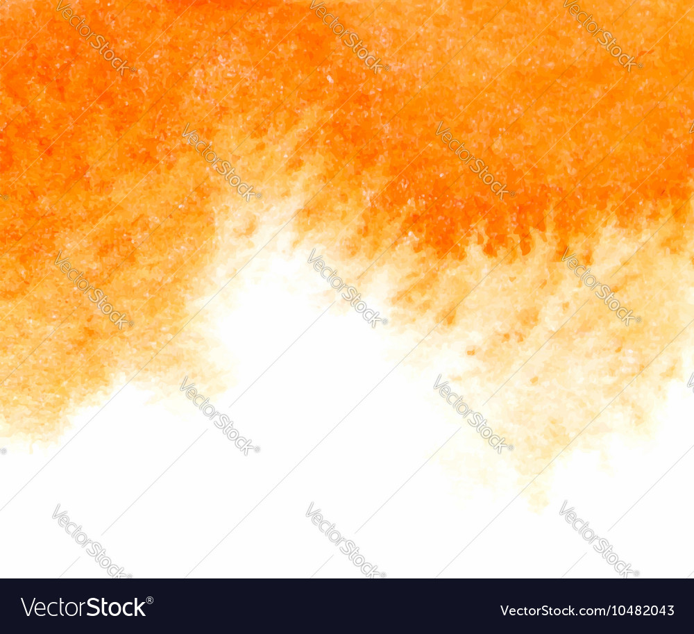 Orange abstract watercolor textured vector