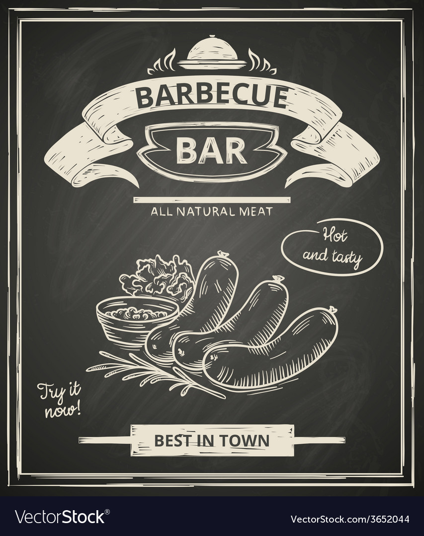 Bbq poster vector