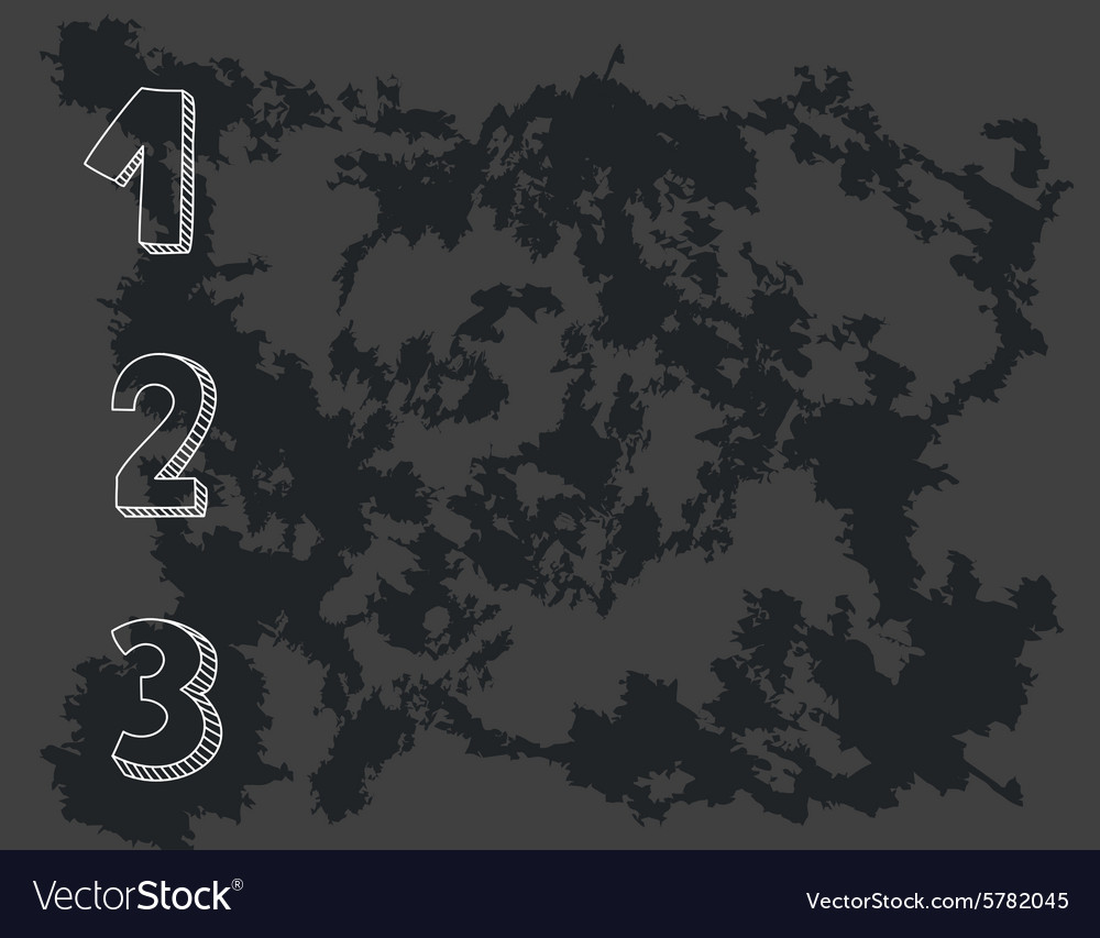 1 2 3 points on chalkboard vector