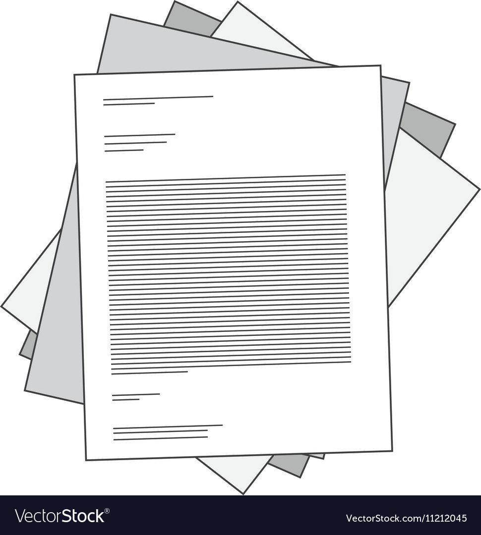 Silhouette stacked paper sheets with text vector