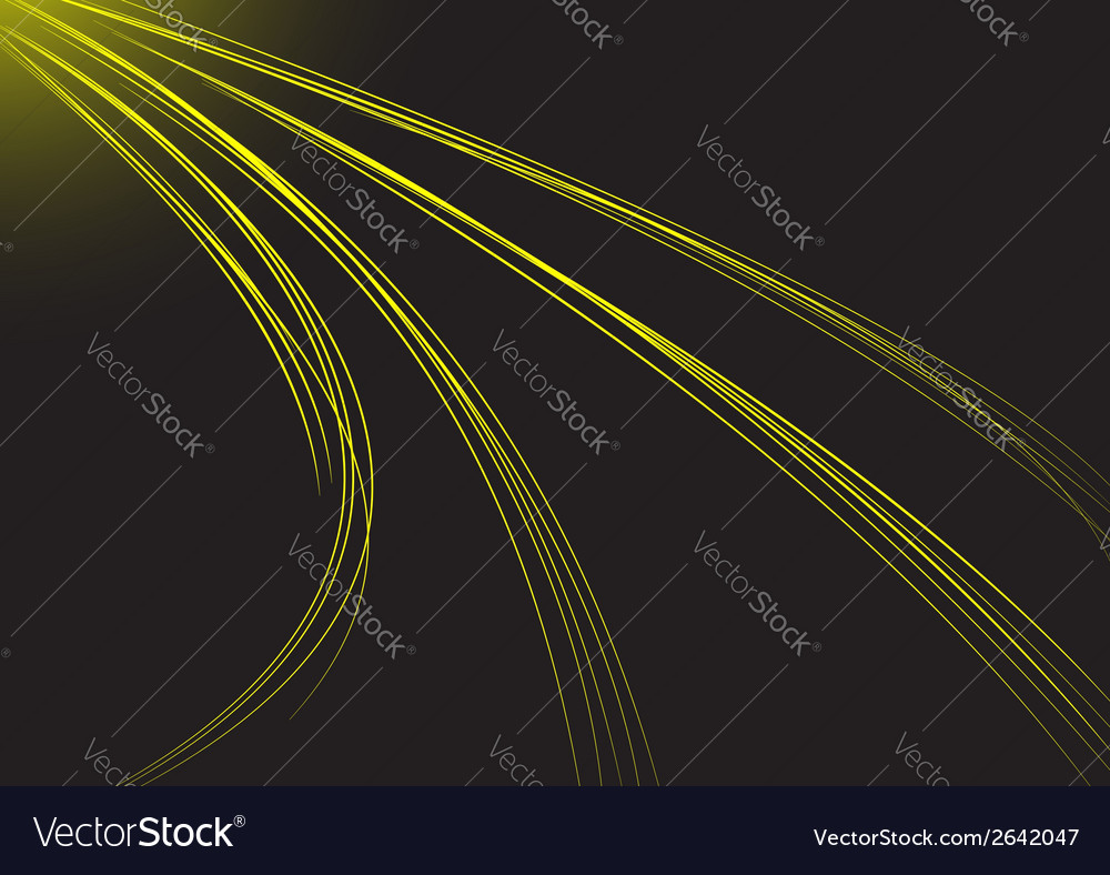 Abstract background with yellow strips vector